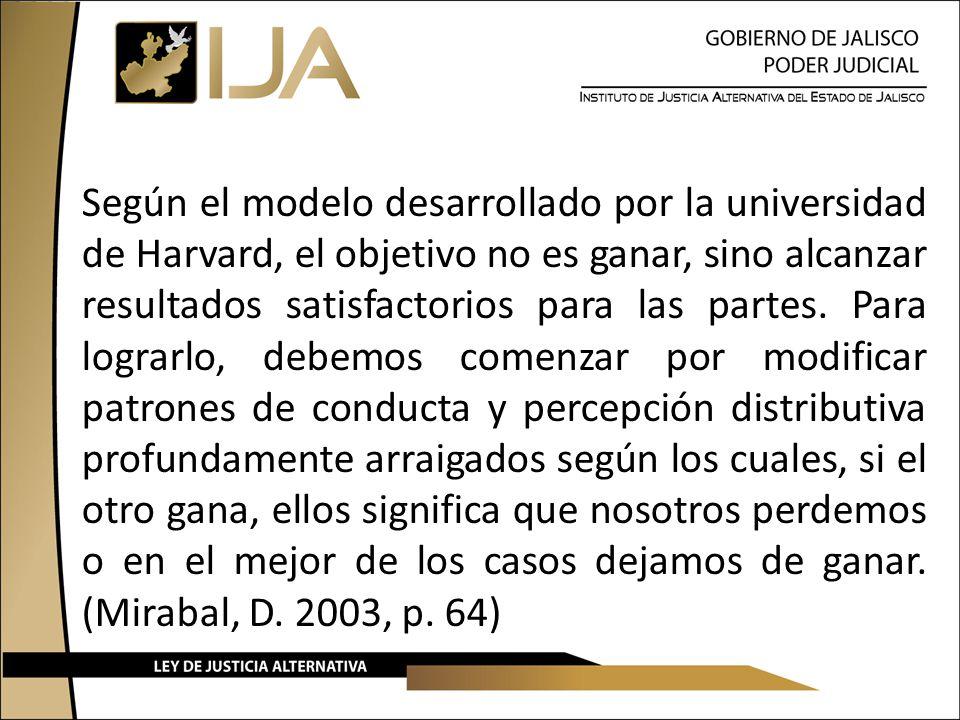 Según el modelo desarrollado por la universidad de Harvard, el objetivo no es ganar, sino alcanzar resultados satisfactorios para las partes.