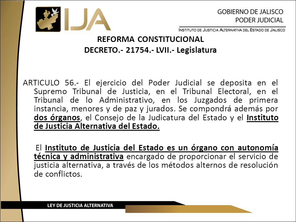 REFORMA CONSTITUCIONAL DECRETO. - 21754. - LVII