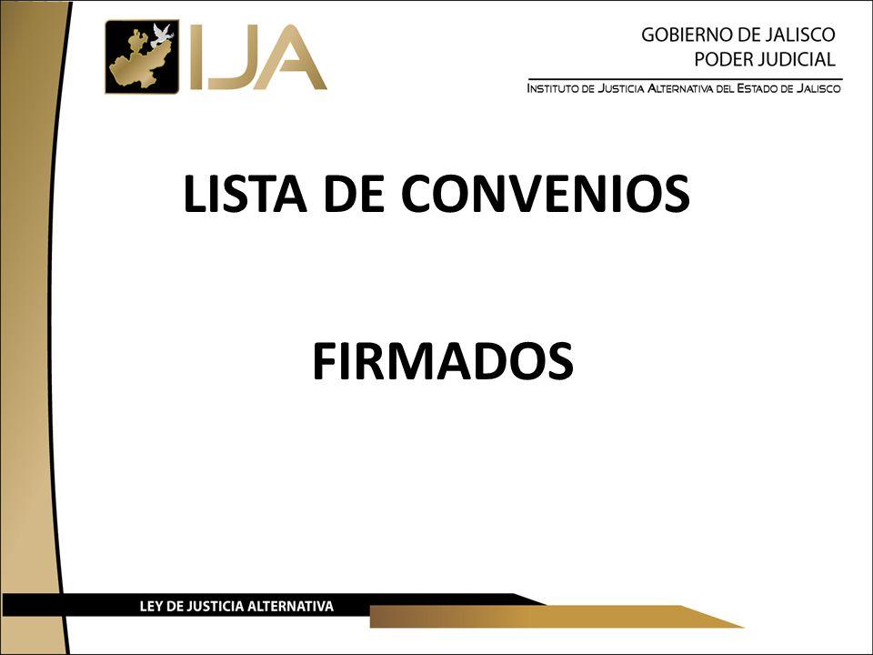 LISTA DE CONVENIOS FIRMADOS