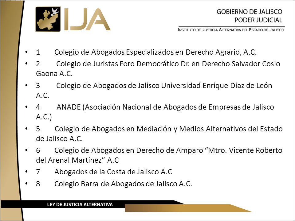 1 Colegio de Abogados Especializados en Derecho Agrario, A.C.