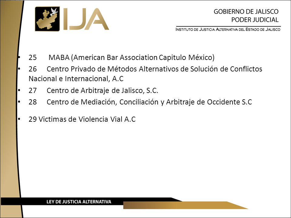 25 MABA (American Bar Association Capitulo México)
