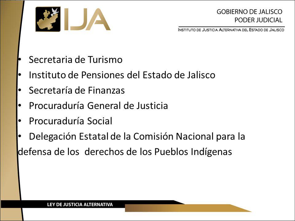 Secretaria de Turismo Instituto de Pensiones del Estado de Jalisco. Secretaría de Finanzas. Procuraduría General de Justicia.