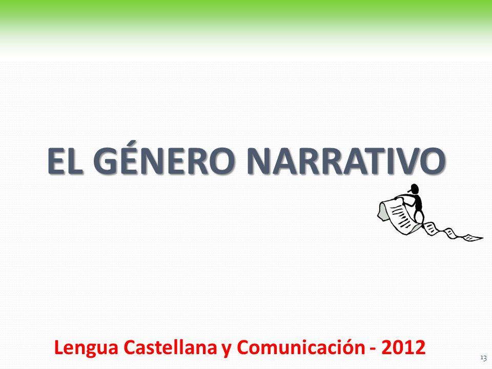 Lengua Castellana y Comunicación - 2012