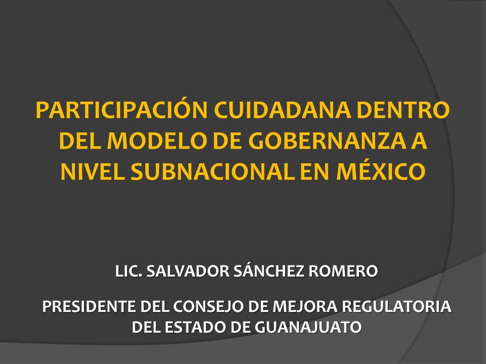 PARTICIPACIÓN CUIDADANA DENTRO DEL MODELO DE GOBERNANZA A NIVEL SUBNACIONAL EN MÉXICO