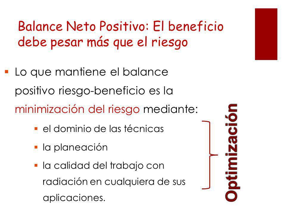 Balance Neto Positivo: El beneficio debe pesar más que el riesgo