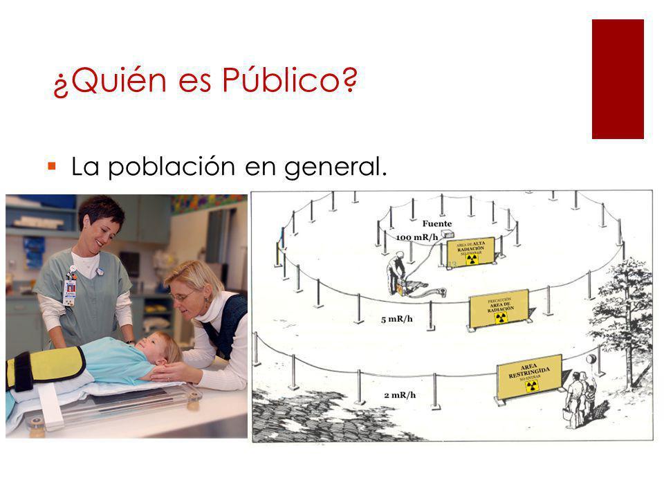 ¿Quién es Público La población en general.