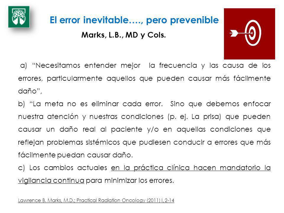 El error inevitable…., pero prevenible