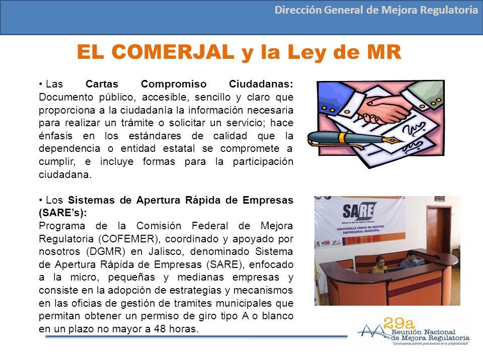 EL COMERJAL y la Ley de MR