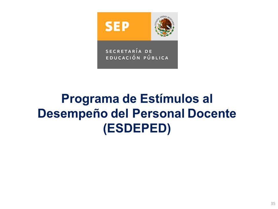 Programa de Estímulos al Desempeño del Personal Docente (ESDEPED)