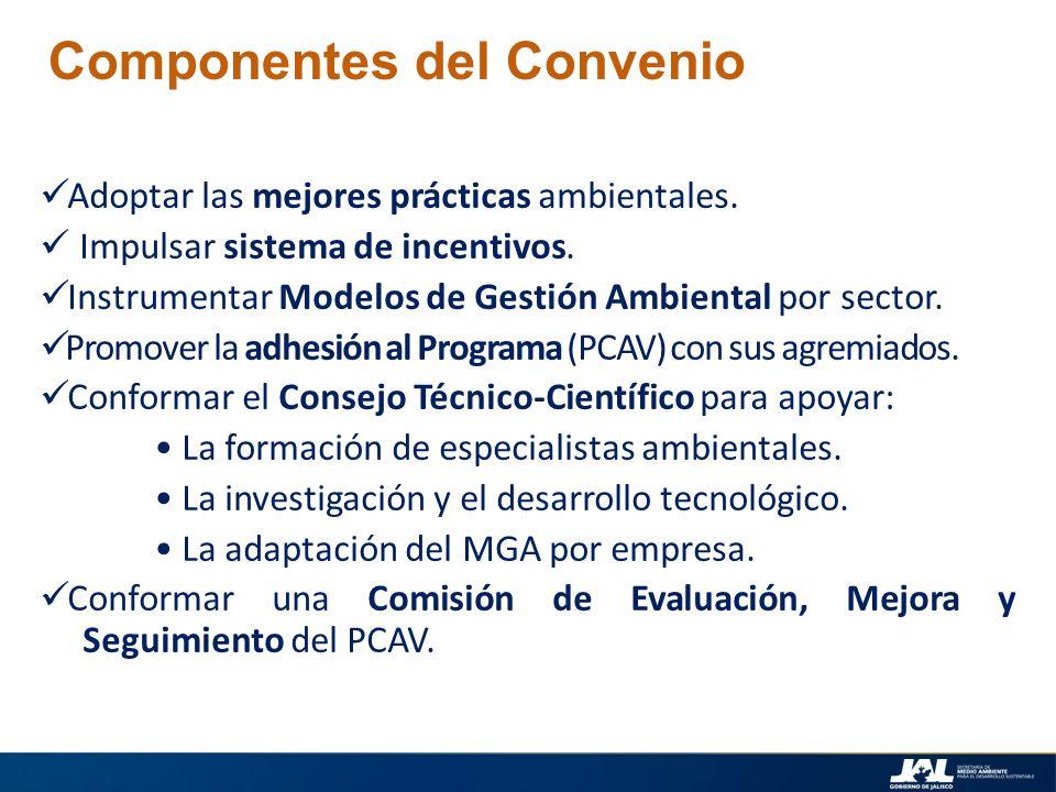 Componentes del Convenio
