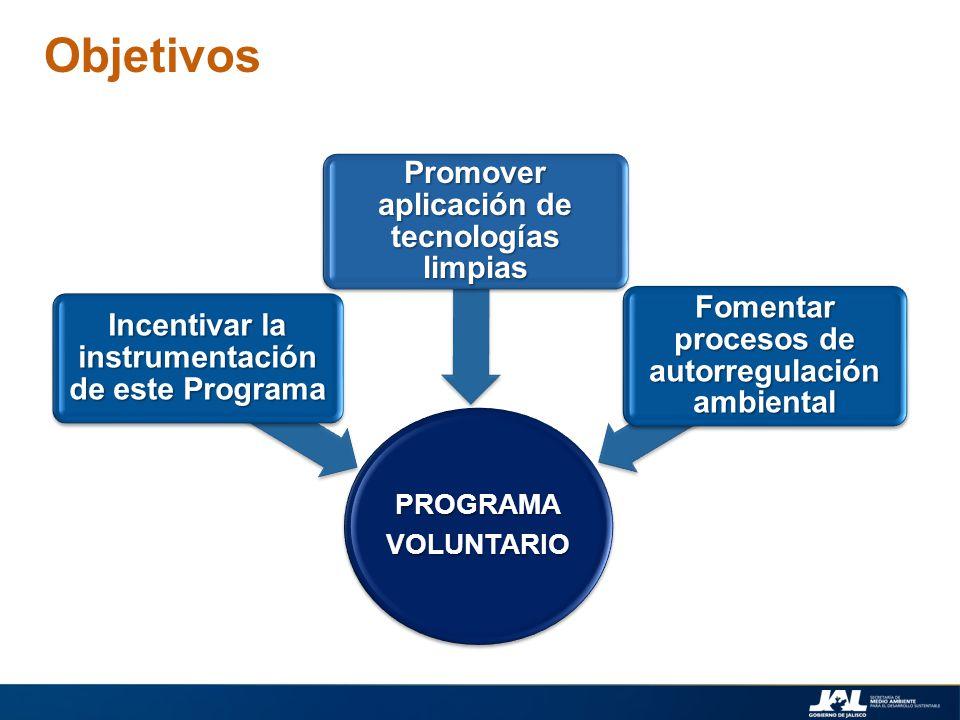 Objetivos Promover aplicación de tecnologías limpias