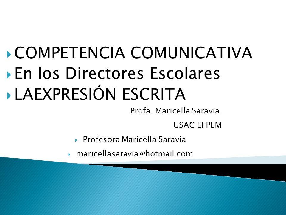 Profesora Maricella Saravia