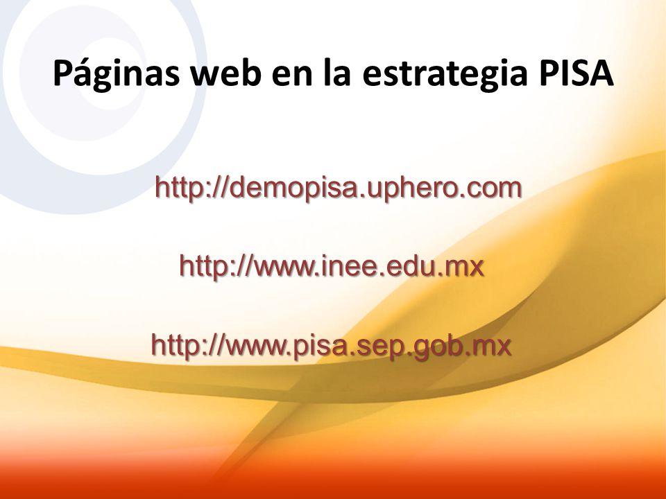 Páginas web en la estrategia PISA