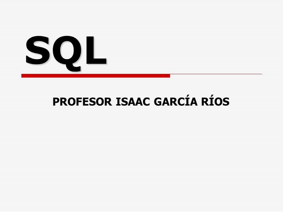 PROFESOR ISAAC GARCÍA RÍOS
