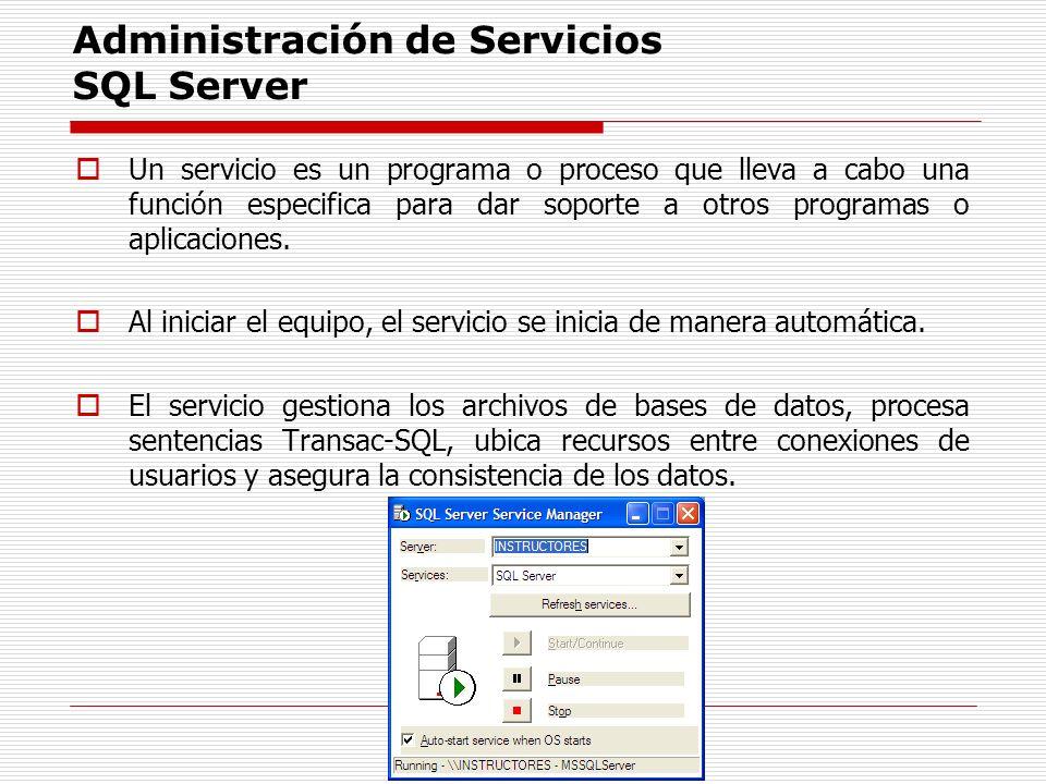 Administración de Servicios SQL Server