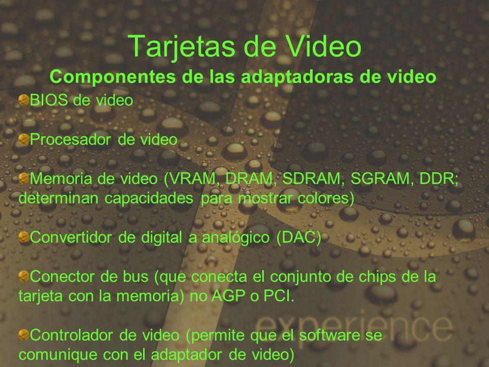 Componentes de las adaptadoras de video