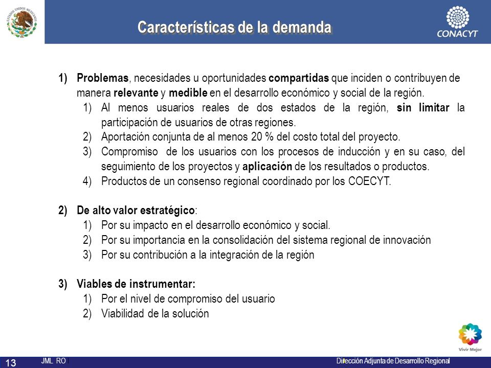 Características de la demanda
