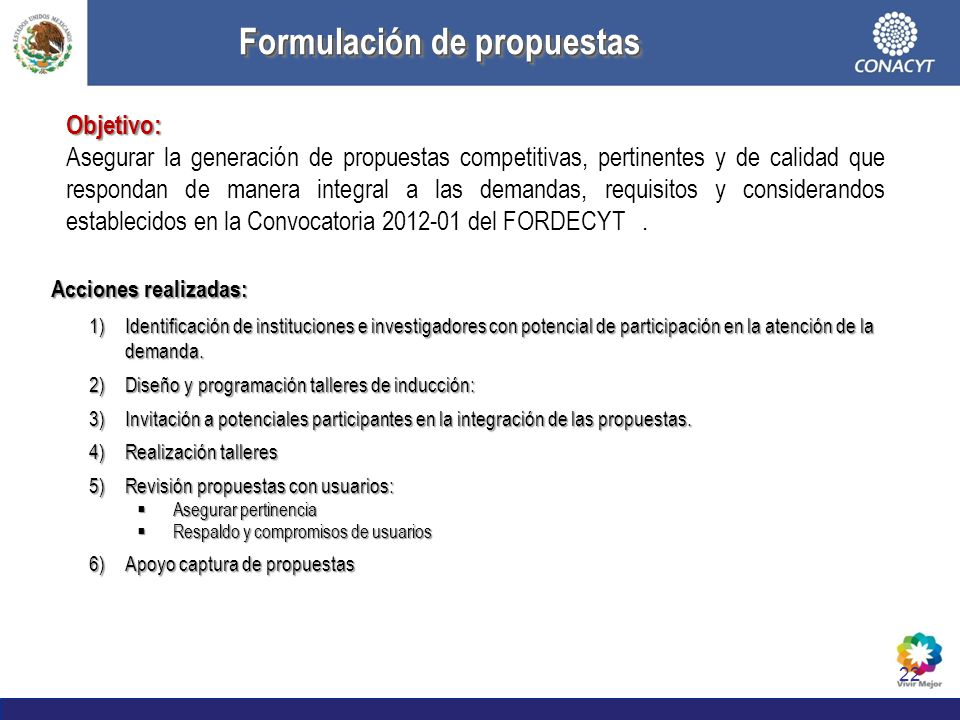 Formulación de propuestas