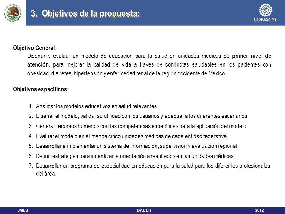 3. Objetivos de la propuesta: