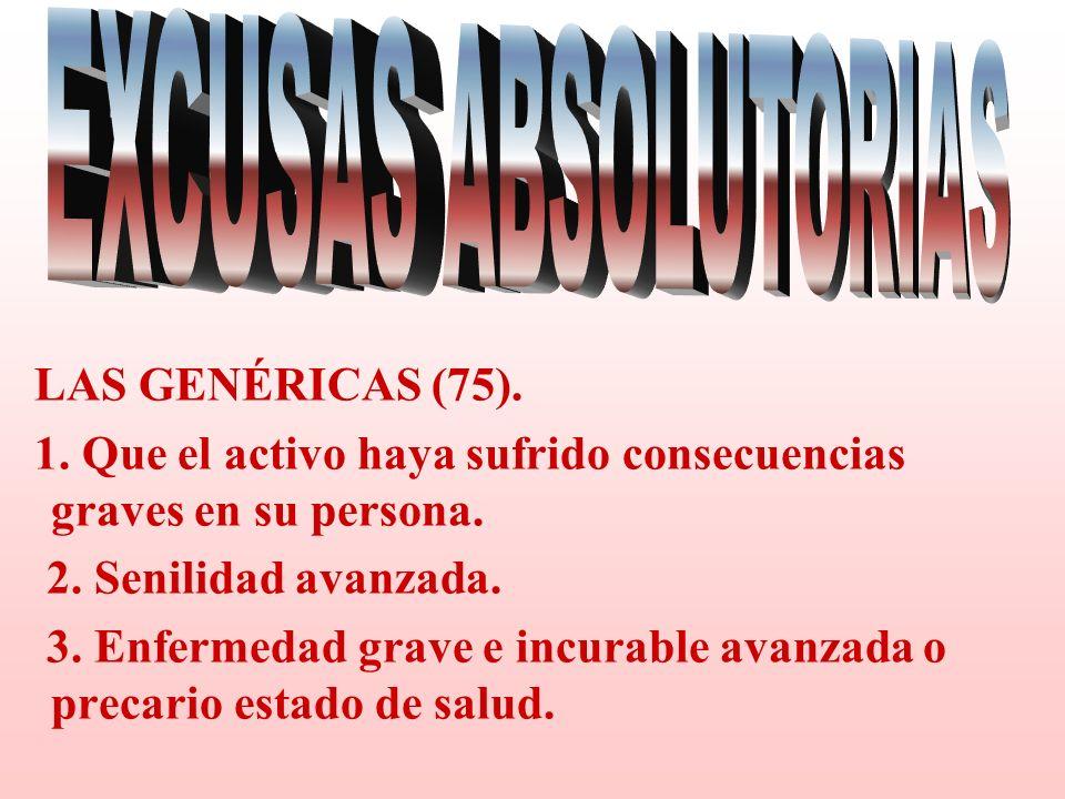 EXCUSAS ABSOLUTORIAS LAS GENÉRICAS (75).