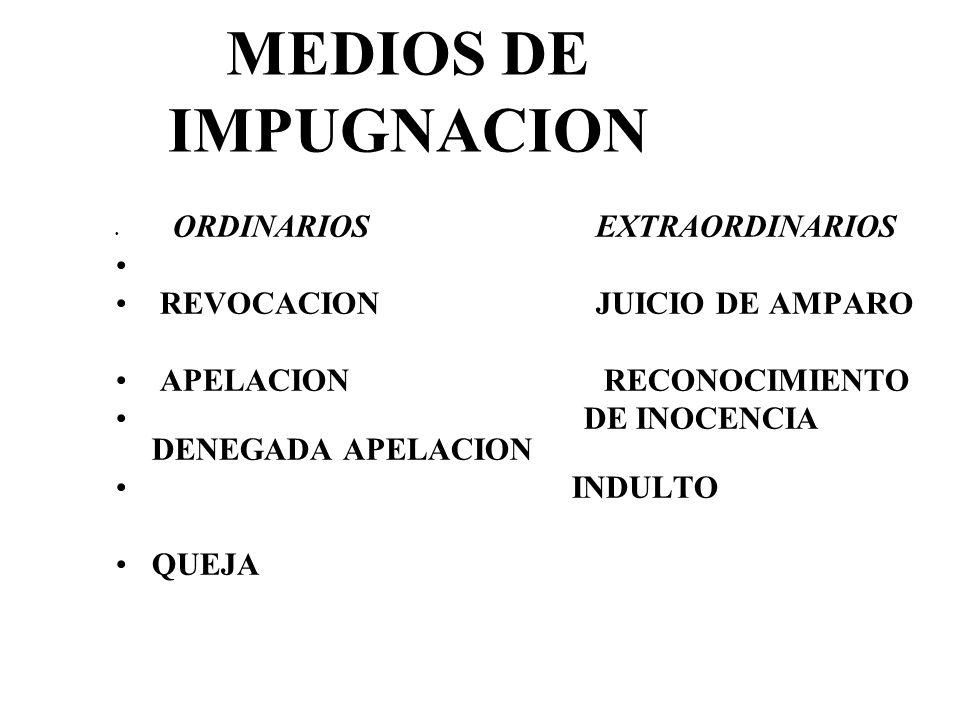 MEDIOS DE IMPUGNACION REVOCACION JUICIO DE AMPARO