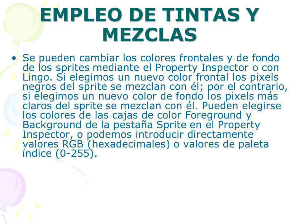 EMPLEO DE TINTAS Y MEZCLAS