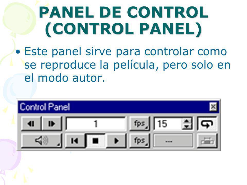 PANEL DE CONTROL (CONTROL PANEL)