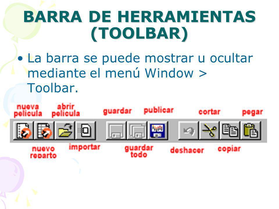 BARRA DE HERRAMIENTAS (TOOLBAR)
