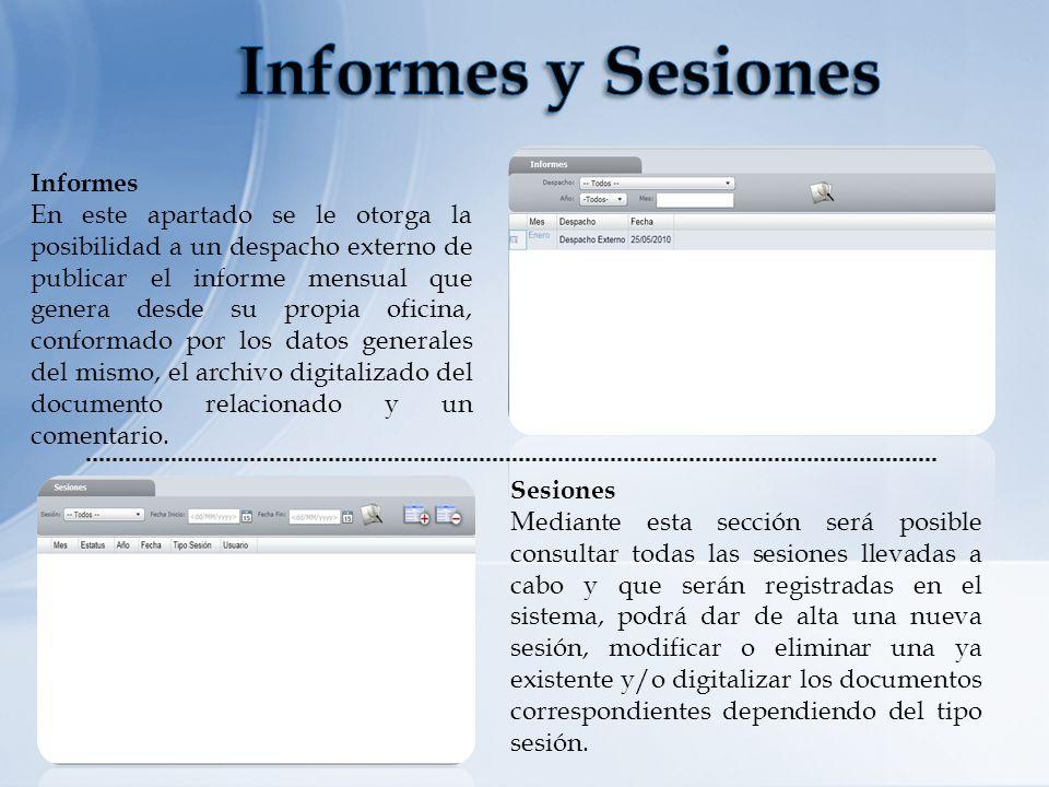 Informes y Sesiones Informes