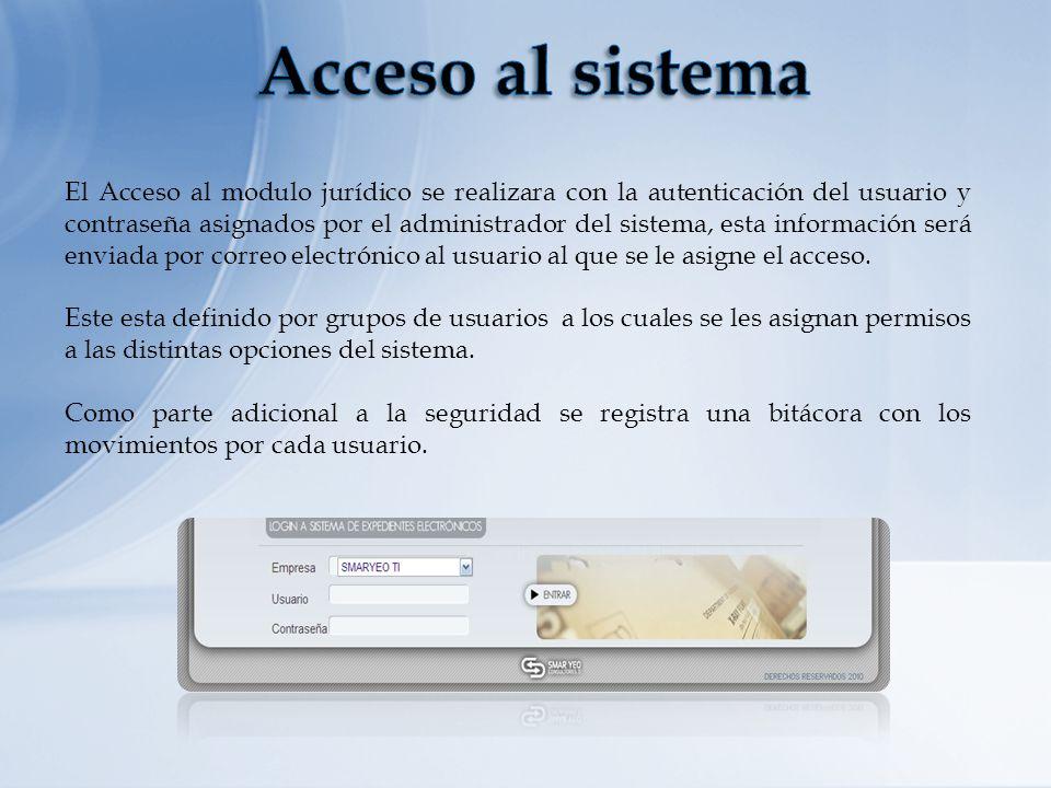 Acceso al sistema