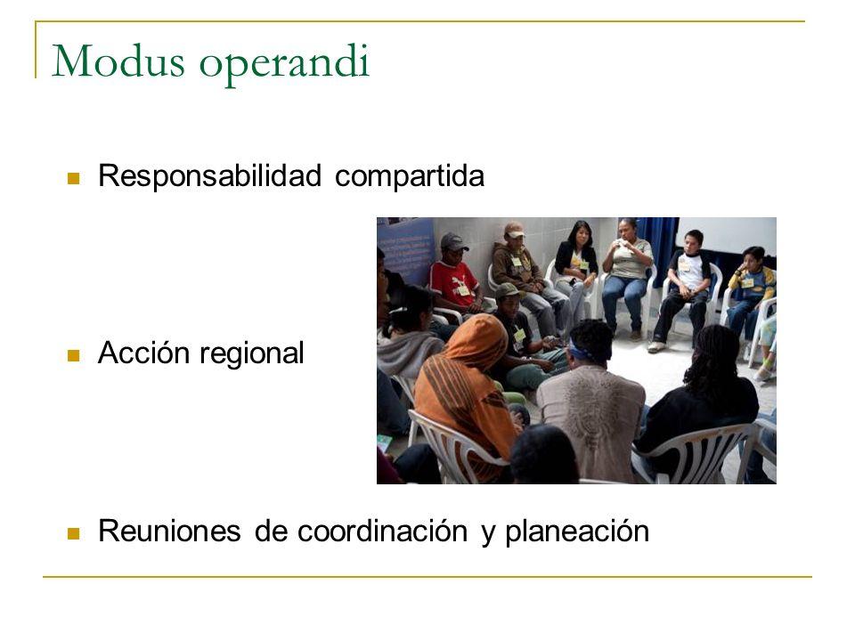 Modus operandi Responsabilidad compartida Acción regional