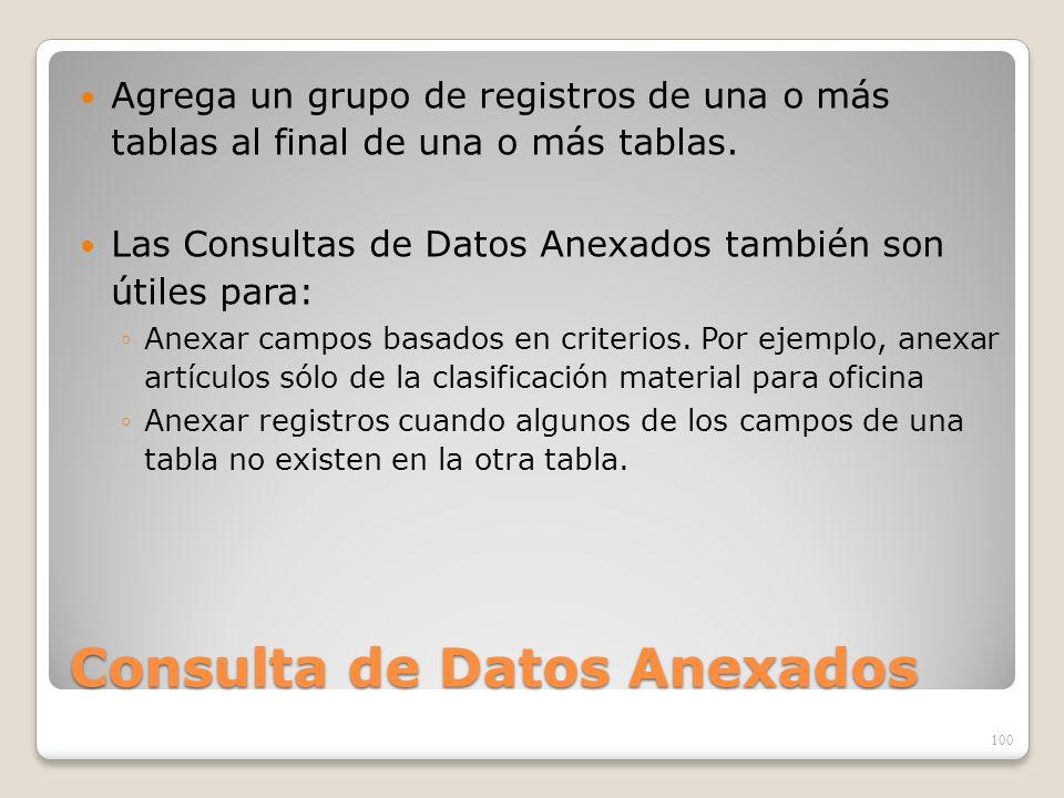 Consulta de Datos Anexados