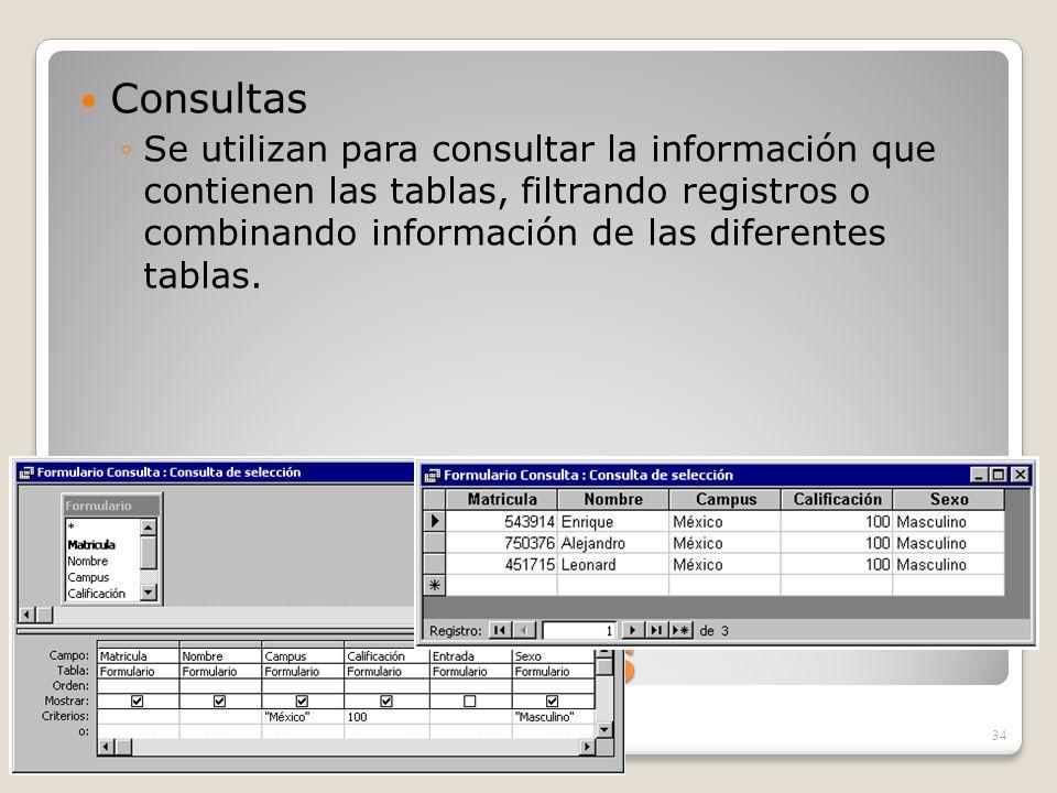 Objetos de ACCESS Consultas