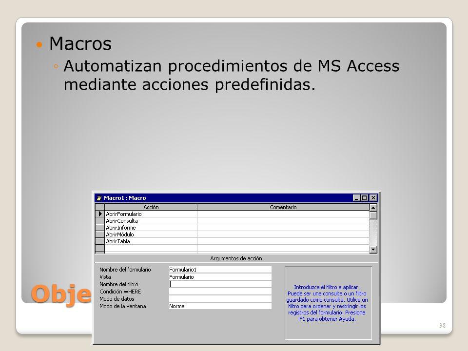 Objetos de ACCESS Macros