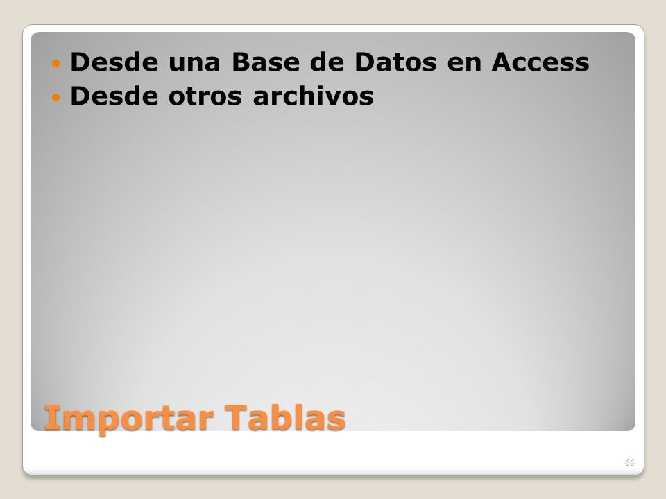 Desde una Base de Datos en Access