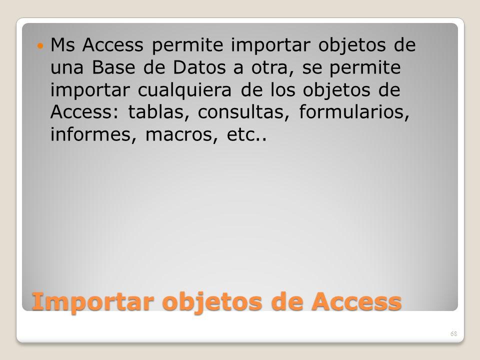 Importar objetos de Access