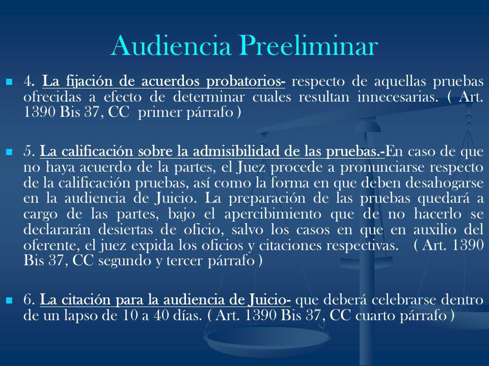 Audiencia Preeliminar