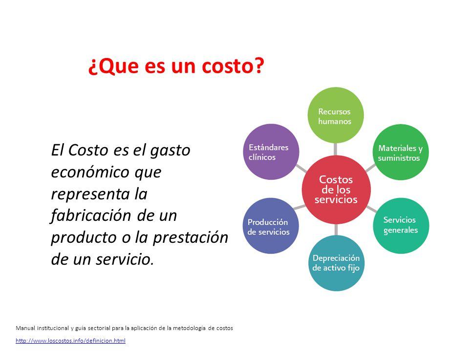 ¿Que es un costo El Costo es el gasto económico que representa la fabricación de un producto o la prestación de un servicio.