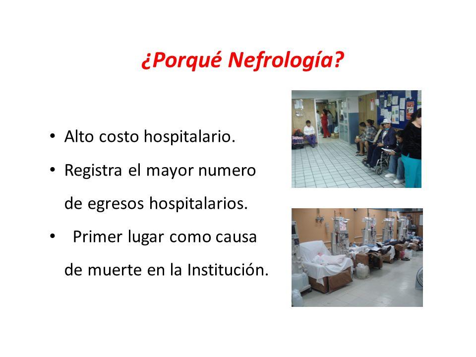 ¿Porqué Nefrología Alto costo hospitalario.