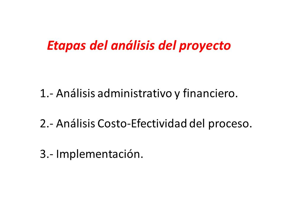 Etapas del análisis del proyecto