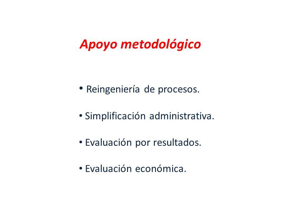 Apoyo metodológico Reingeniería de procesos.