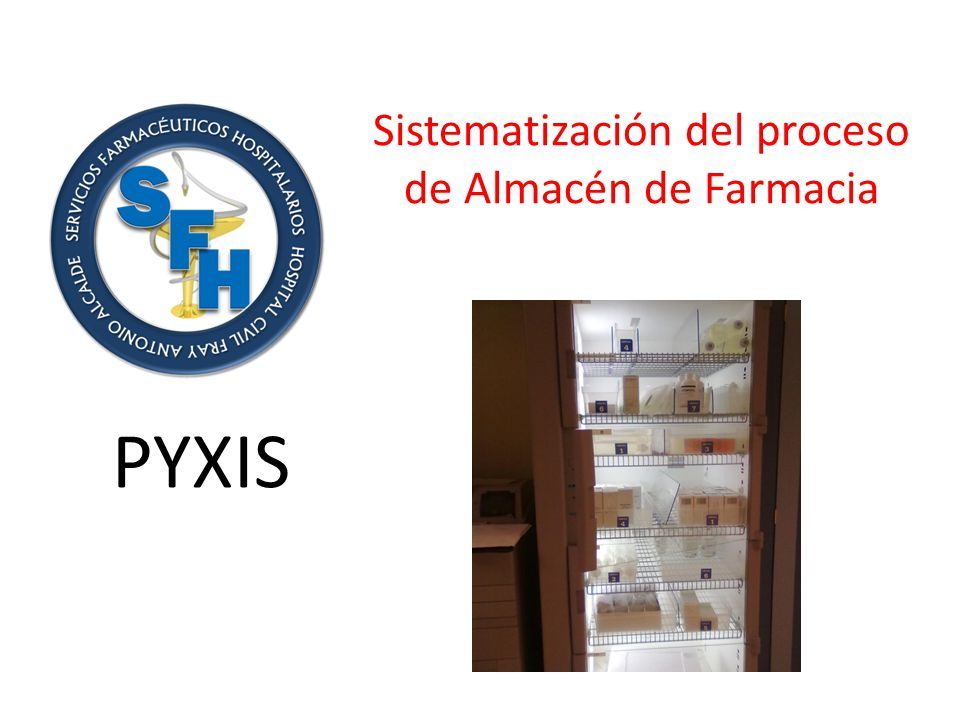 Sistematización del proceso de Almacén de Farmacia