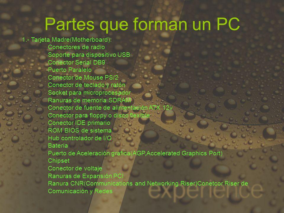 Partes que forman un PC