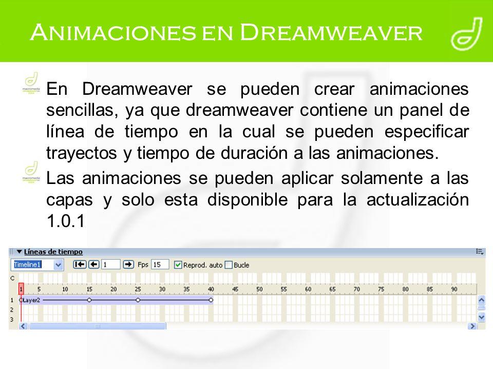 Animaciones en Dreamweaver