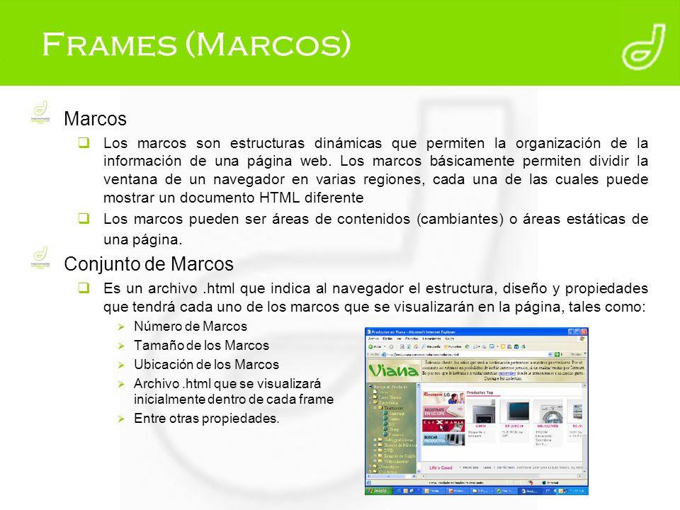 Frames (Marcos) Marcos Conjunto de Marcos