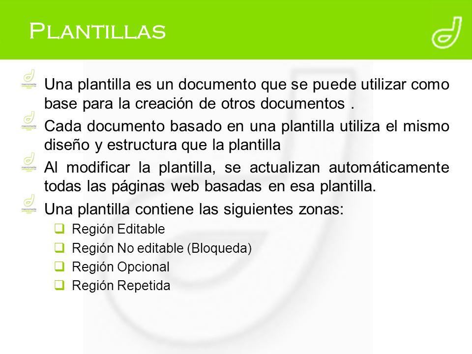 Plantillas Una plantilla es un documento que se puede utilizar como base para la creación de otros documentos .