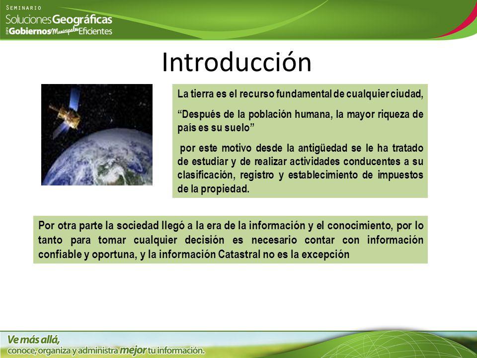Introducción La tierra es el recurso fundamental de cualquier ciudad, Después de la población humana, la mayor riqueza de país es su suelo