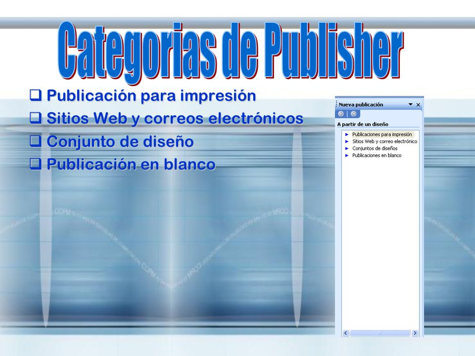 Categorias de Publisher