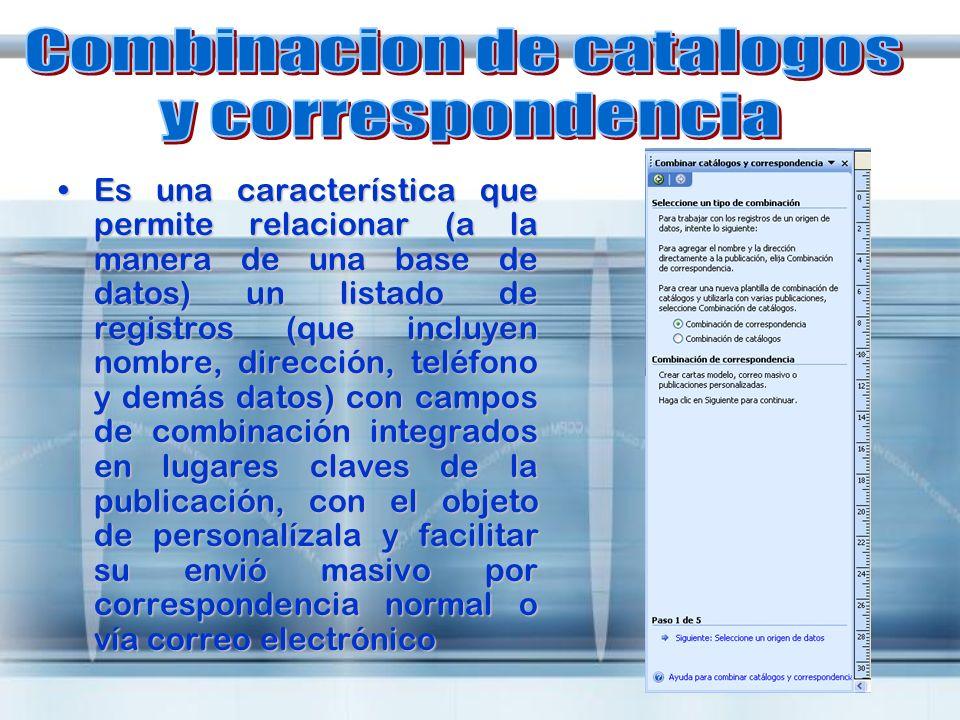 Combinacion de catalogos