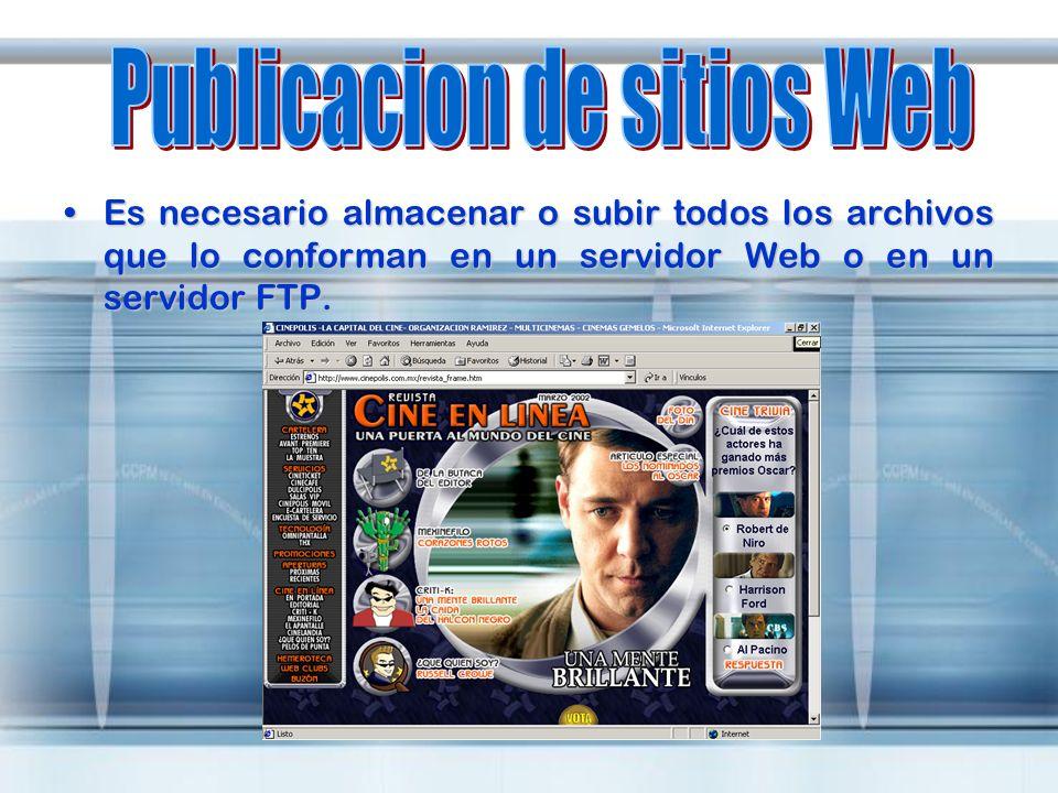 Publicacion de sitios Web